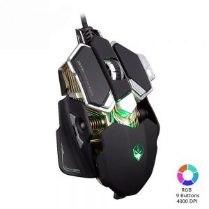 Elite Gaming Mouse 4000 DPI USB Wired 9 Buttons Backlight