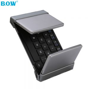 Mini Foldable Bluetooth Wireless Keyboard - Black